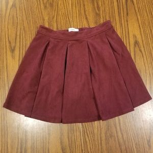 Abercrombie Kids Faux Suede Pleated Skirt 13/14